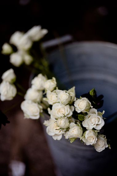 White Rose Flower Stems | Eleanor Howarth Photography