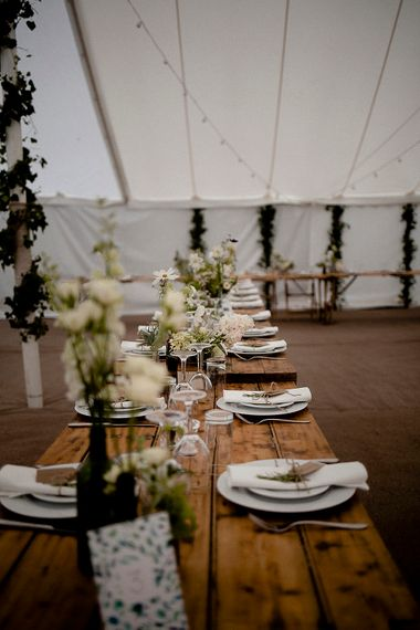 Natural Rustic Wedding Decor | Eleanor Howarth Photography