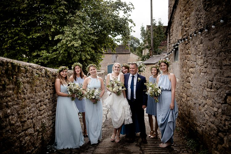 Charlie Bear Payton Slip & Augustine Over Skirt | Bridesmaid in Pale Blue Dress | Eleanor Howarth Photography