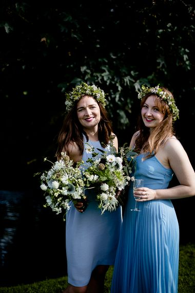 Bridesmaids in Pale Blue Dresses | Eleanor Howarth Photography