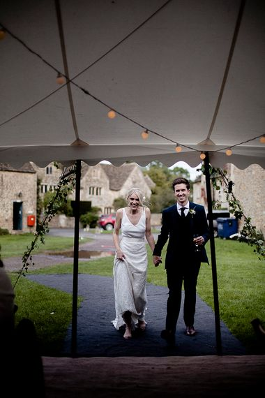 Bride & Groom | Festival Wedding with Bell Tents & Marquee Reception at Stowford Manor Farm | Eleanor Howarth Photography