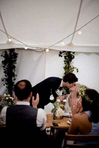 Speeches | Festival Wedding with Bell Tents & Marquee Reception at Stowford Manor Farm | Eleanor Howarth Photography