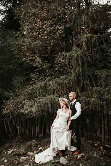 Mid West Inspired Wedding Shoot At The Coppermines Lakes Cottages Wedding Venue With Dresses By Shikoba Bride And Images By Jo Bradbury