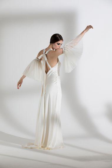 """Juniper Dress & Buttercup Sleeve by <a href=""""https://www.halfpennylondon.com/"""" target=""""_blank"""">Halfpenny London</a>"""