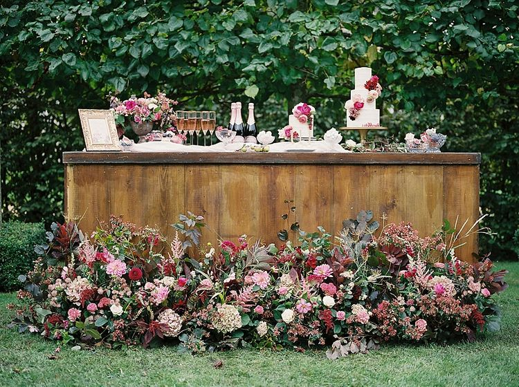 Floral Installation For Wedding Bar By Martha And The Meadow // Image By Imogen Xiana