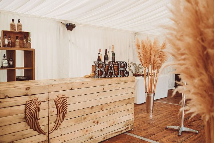 DIY Wooden Bar // Image By Lemonade Pictures