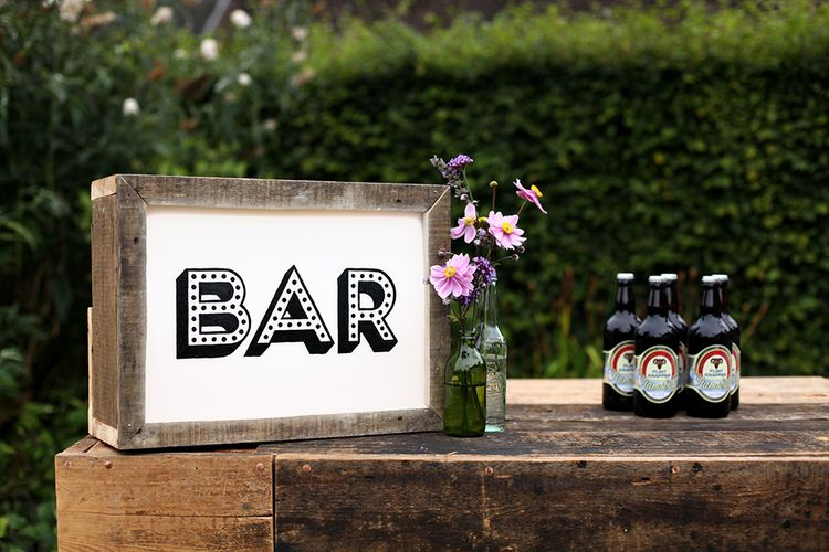 "Personalised Wooden Bar // <a href=""https://www.madebywoodandwood.com/"" rel=""noopener"" target=""_blank"">Made By Wood & Wood</a>"