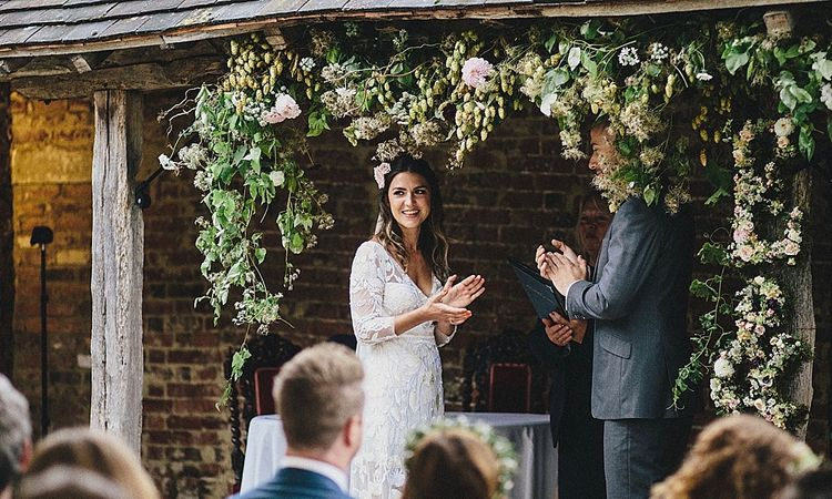 Floral Ceremony Arch By Bloom & Bone