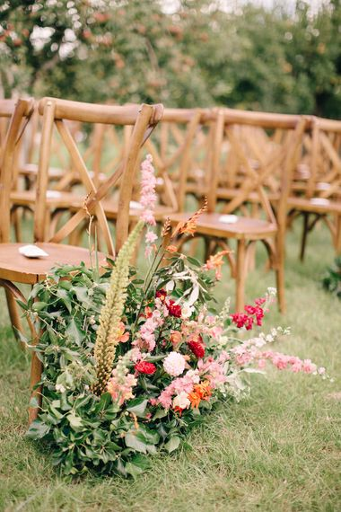 Floral Aisle Details For Wedding By Joanne Truby