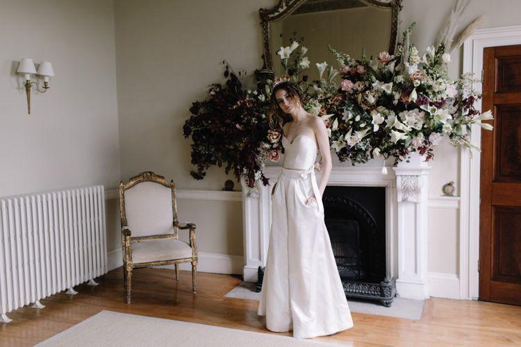 Bride In Halfpenny London Jumpsuit | Image by Rebecca Goddard