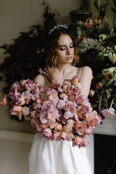 Pink Rose Wedding Bouquet | Image by Rebecca Goddard
