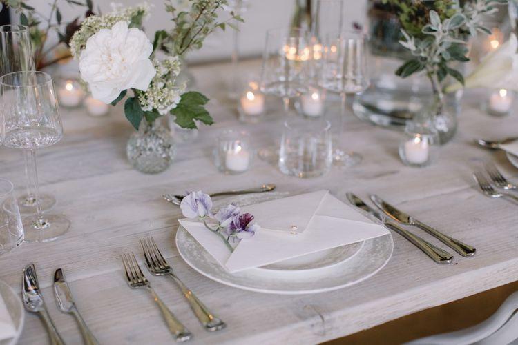 Elegant Place Setting For Wedding | Image by Rebecca Goddard