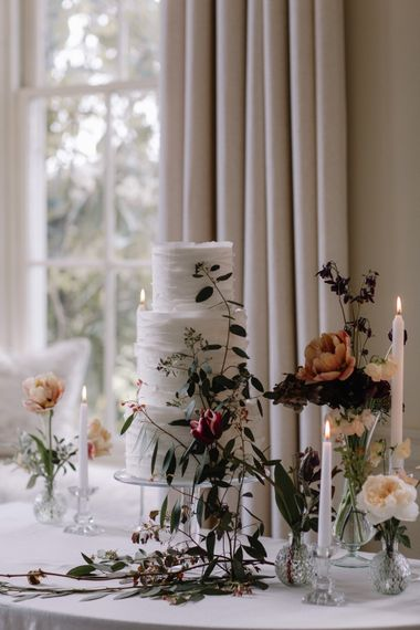 White Buttercream Cake by Edible Essence | Image by Rebecca Goddard