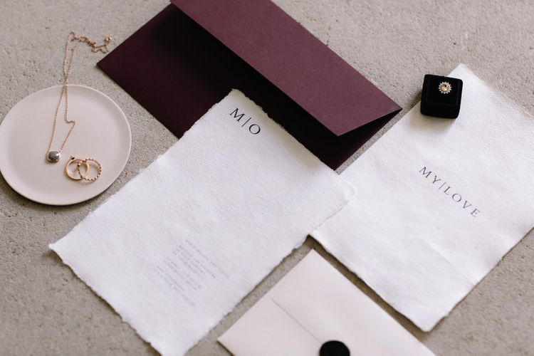 Elegant Simple Stationery Suite by Bureau | Image by Rebecca Goddard Photography