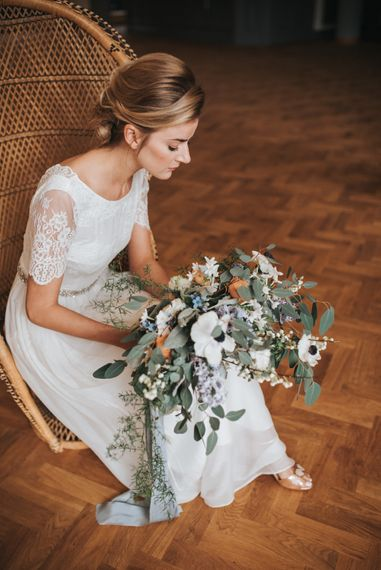 Bouquet With Peach & White Tones