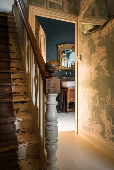 Staircase | The Stack Cornwall | Intimate Exclusive Hire Wedding Venue
