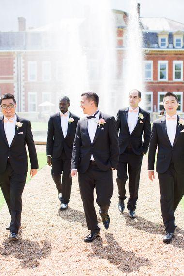 Groomsmen In Black Tie