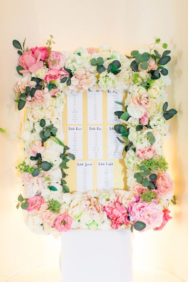 Floral Table Plan