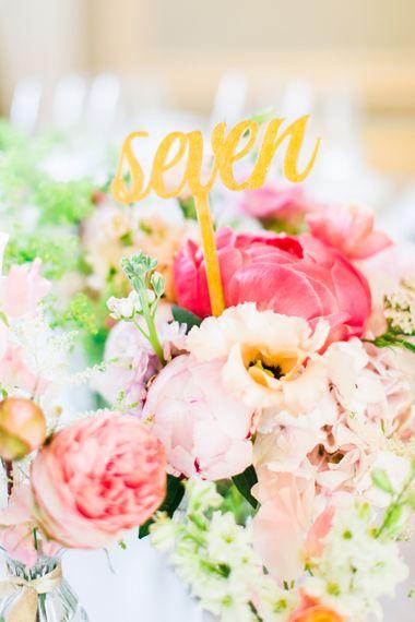 Peony Wedding Table Centrepieces