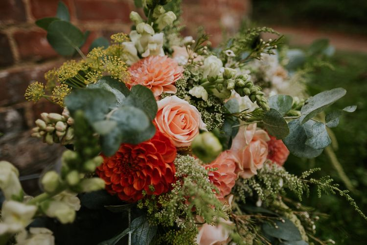 Tim Walker Inspired Marquee Wedding With Smoke Bombs, Floral Print & Swan Motif With Images From Joanna Nicole Photography
