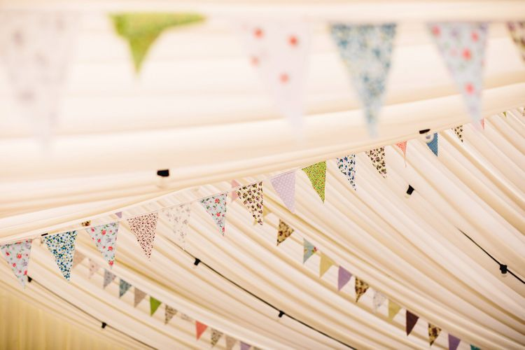Bunting   DIY At Home Marquee Wedding   J S Coates Wedding Photography