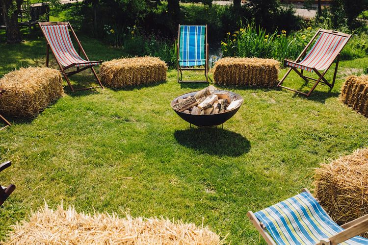 Fire Pit Seating Area   DIY At Home Marquee Wedding   J S Coates Wedding Photography
