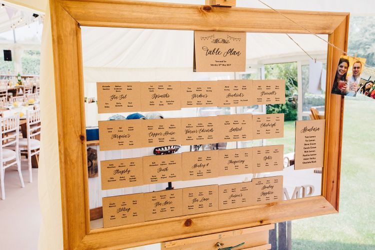 Table Plan   DIY At Home Marquee Wedding   J S Coates Wedding Photography