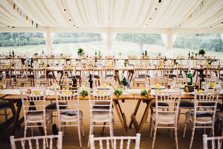 Table Decor   DIY At Home Marquee Wedding   J S Coates Wedding Photography