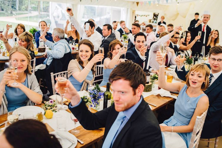 Wedding Guests   DIY At Home Marquee Wedding   J S Coates Wedding Photography