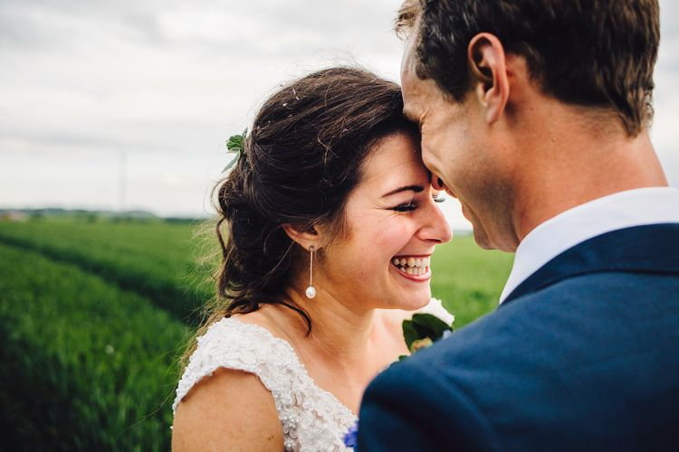 Bride in Morlee   Groom in Hugo Boss Suit   DIY At Home Marquee Wedding   J S Coates Wedding Photography