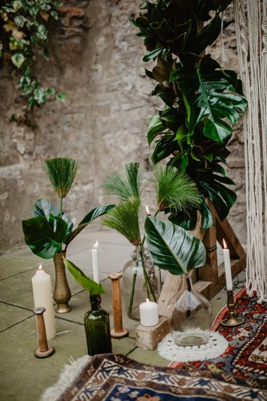 Tropical Brights Meets Seventies Macramé Inspiration Styled by Fringe & Fray | Greenery Floral | Macramé Wall Hangings | Boho Chic | Camilla Andrea Photography
