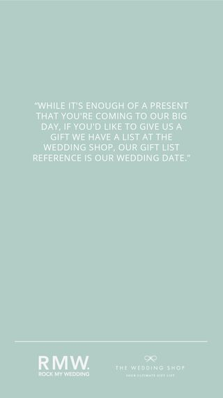 How To Ask {Graciously} For Wedding Presents