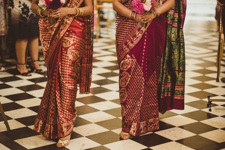 Bridesmaids In Saris