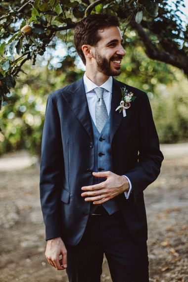 Groom in Four Stroke Suit | Tropical Green & Fuchsia Pink Outdoor Wedding at Castellina de Miremont, Italy Planned & Styled by Come le Ciliegie Wedding & Events | Images by Effeanfotografie | Film by Headshot Weddings