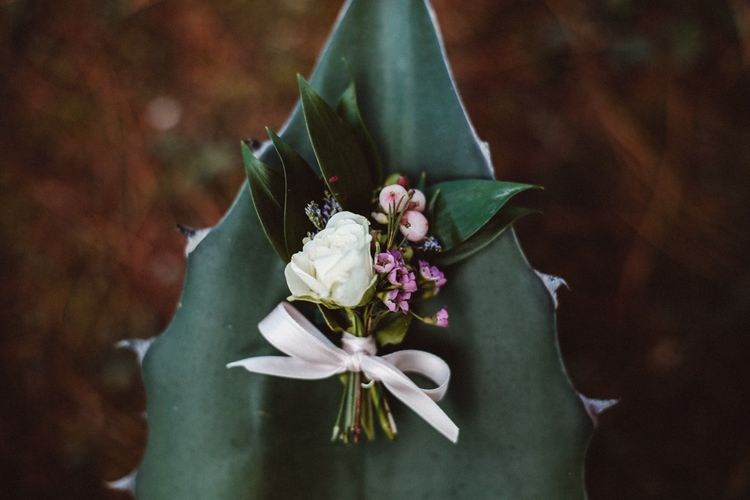 Buttonhole | Tropical Green & Fuchsia Pink Outdoor Wedding at Castellina de Miremont, Italy Planned & Styled by Come le Ciliegie Wedding & Events | Images by Effeanfotografie | Film by Headshot Weddings