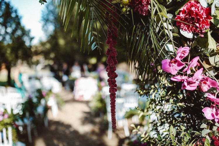 Tropical Green & Fuchsia Pink Outdoor Wedding at Castellina de Miremont, Italy Planned & Styled by Come le Ciliegie Wedding & Events | Images by Effeanfotografie | Film by Headshot Weddings