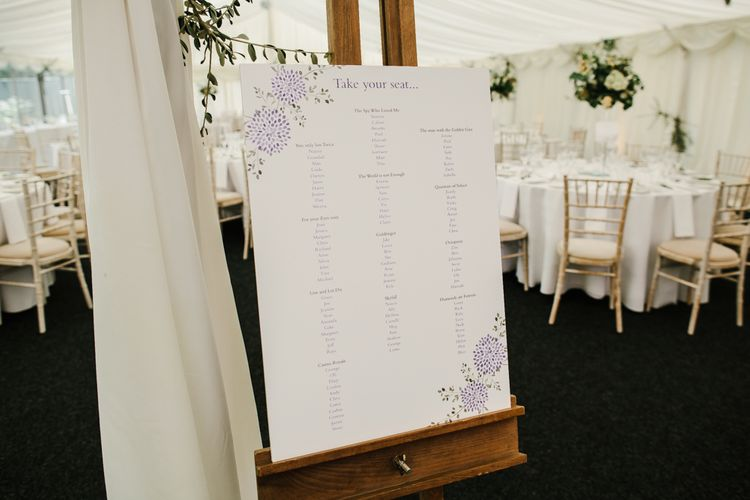 Simple Table Plan For Wedding