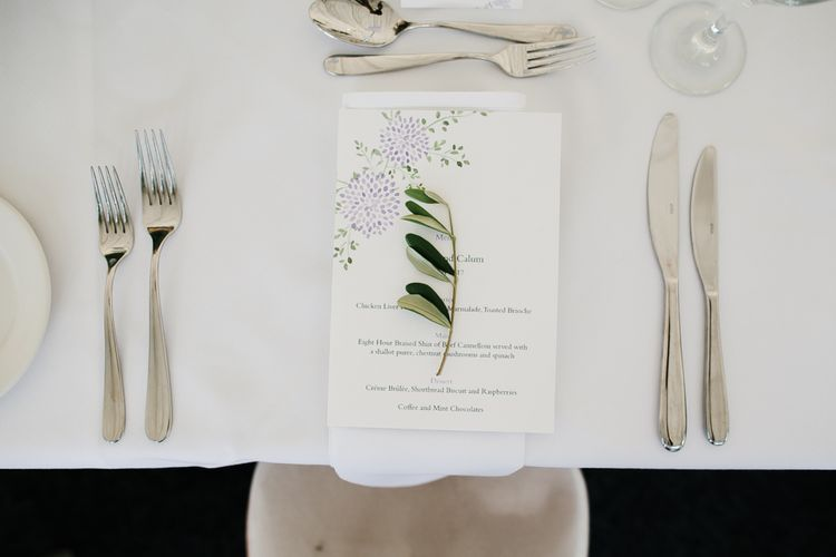 Simple Elegant Place Setting For Wedding