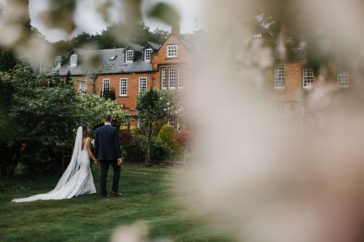 Inbal Dror Bride With Bridesmaids In Ruffles Elegant But Fun Wedding At Nunsmere Hall Hotel With Images From Chris Barber Photography