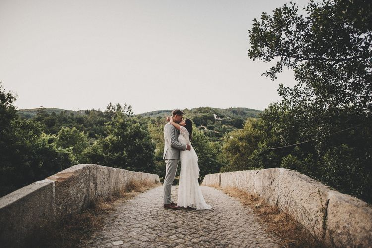 Portugal Destination Wedding With Bride In Jenny Packham