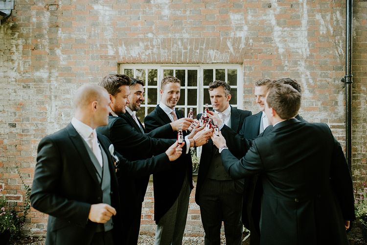The gorgeous Groom and his groomsmen.