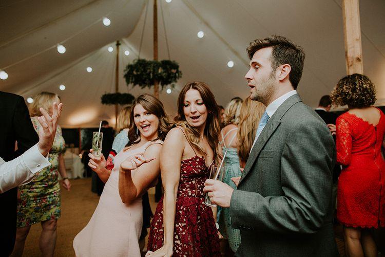 Happy Guests on the dancefloor, wedding band - Excite