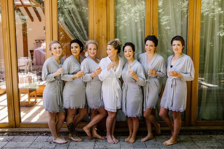 Bridesmaids In Boohoo Robes