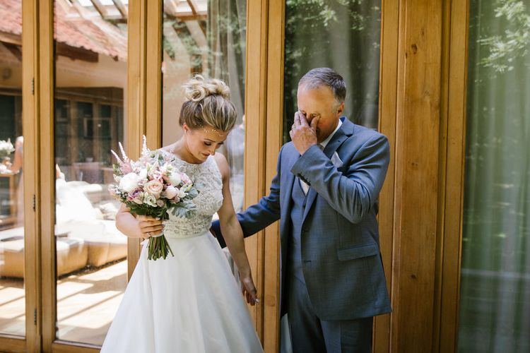 Sassi Holford Bride With Dad