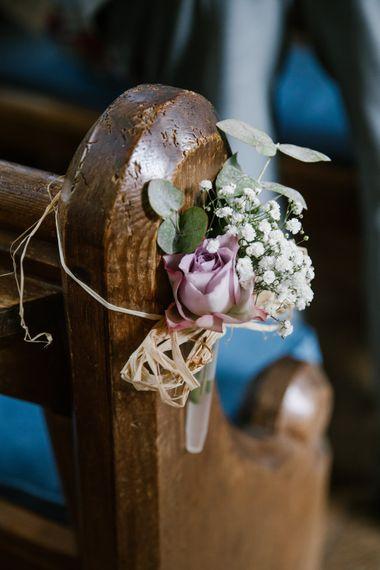 Floral Pew Ends For Wedding