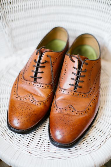 Brown Brogues By Oliver Sweeney For Groom
