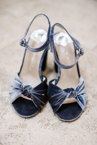 Grey Velvet Wedding Shoes