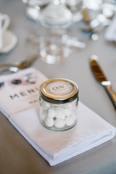Wedding Favours Mint Imperials In Personalised Jam Jar