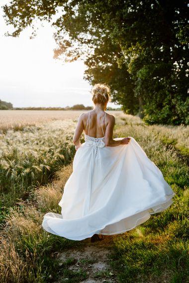 Bride In Sassi Holford Dress