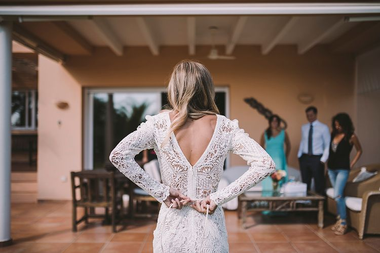 Bride in Yolan Cris Lace Wedding Dress | Sara Frost Photography | AMS Love in Video